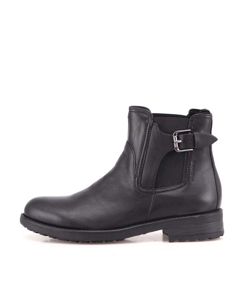 Černé dámské kožené boty Vagabond Lucie
