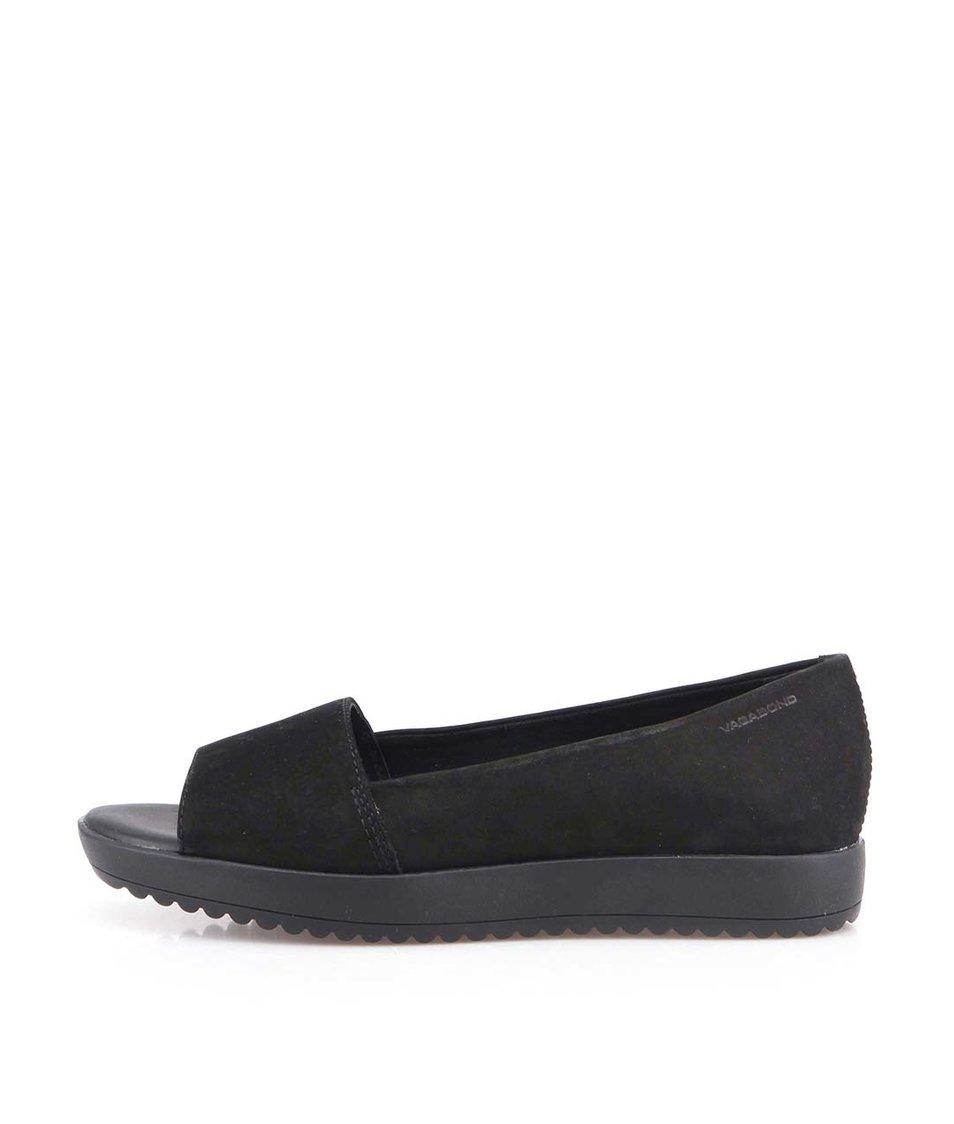 Černé dámské kožené boty Vagabond Flora