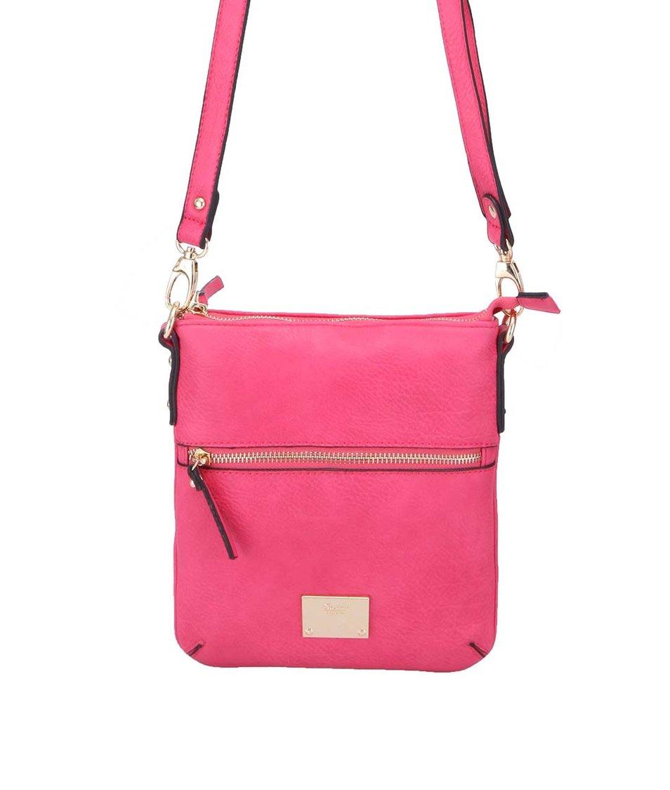 Růžová menší kabelka přes rameno Gionni Alina