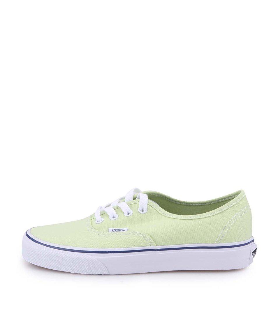 Limetkově zelené dámské tenisky Vans Authentic Shadow
