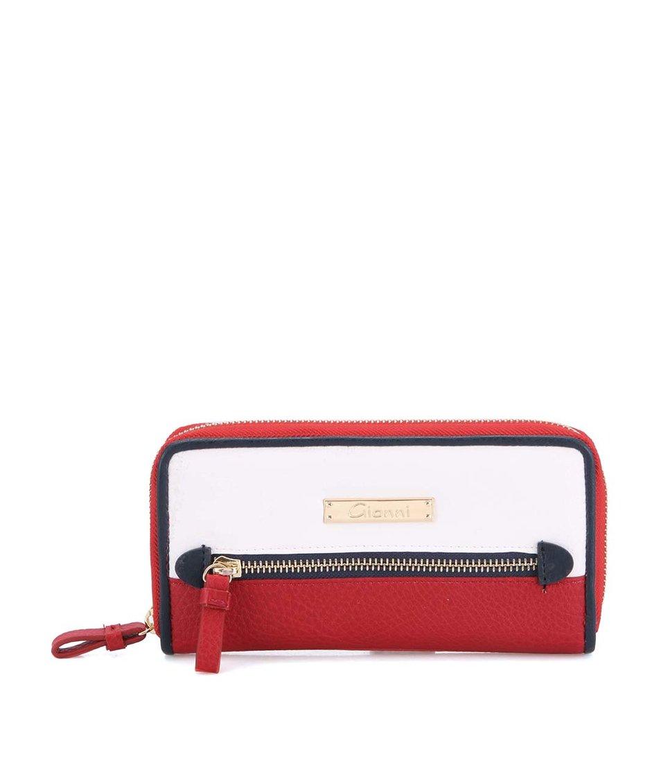 Bílo-červená větší peněženka Gionni Camelia