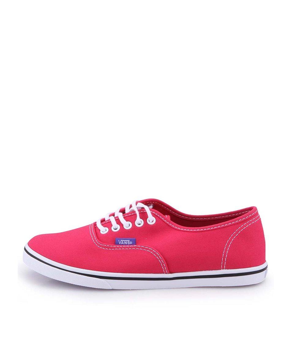 Tmavě růžové dámské tenisky Vans Authentic Lo Pro