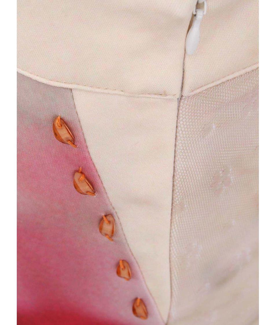 Růžovo-béžová sukně a rozparkem a potiskem Culito from Spain