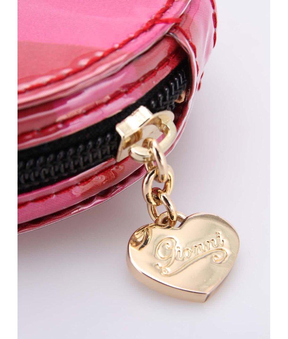 Červeno-růžové kapesní zrcátko Gionni Paris