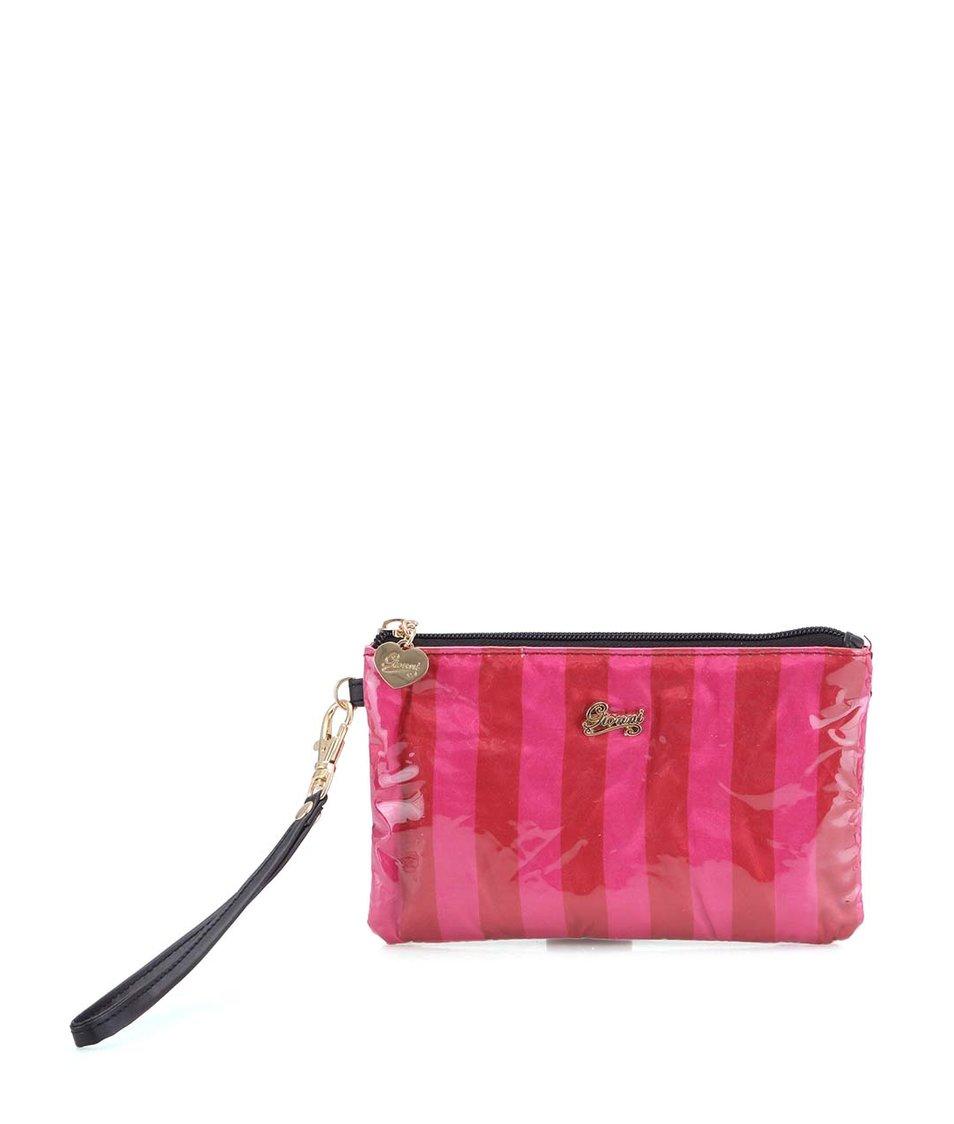Červeno-růžová menší kosmetická taška Gionni Paris