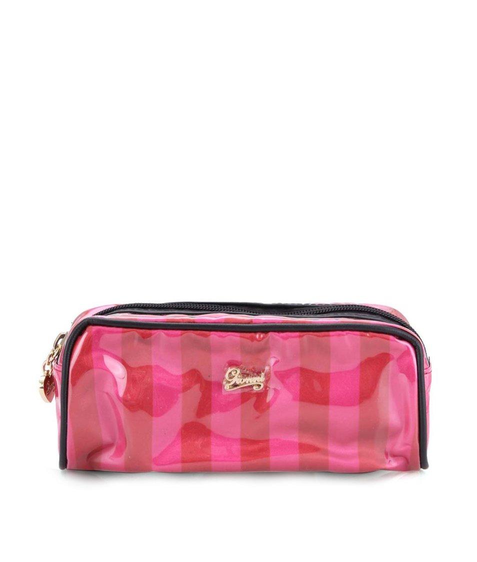 Červeno-růžová kosmetická taška Gionni Paris