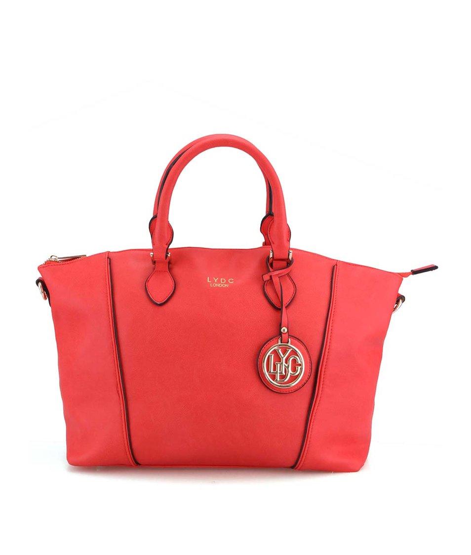 Červená velká kabelka LYDC