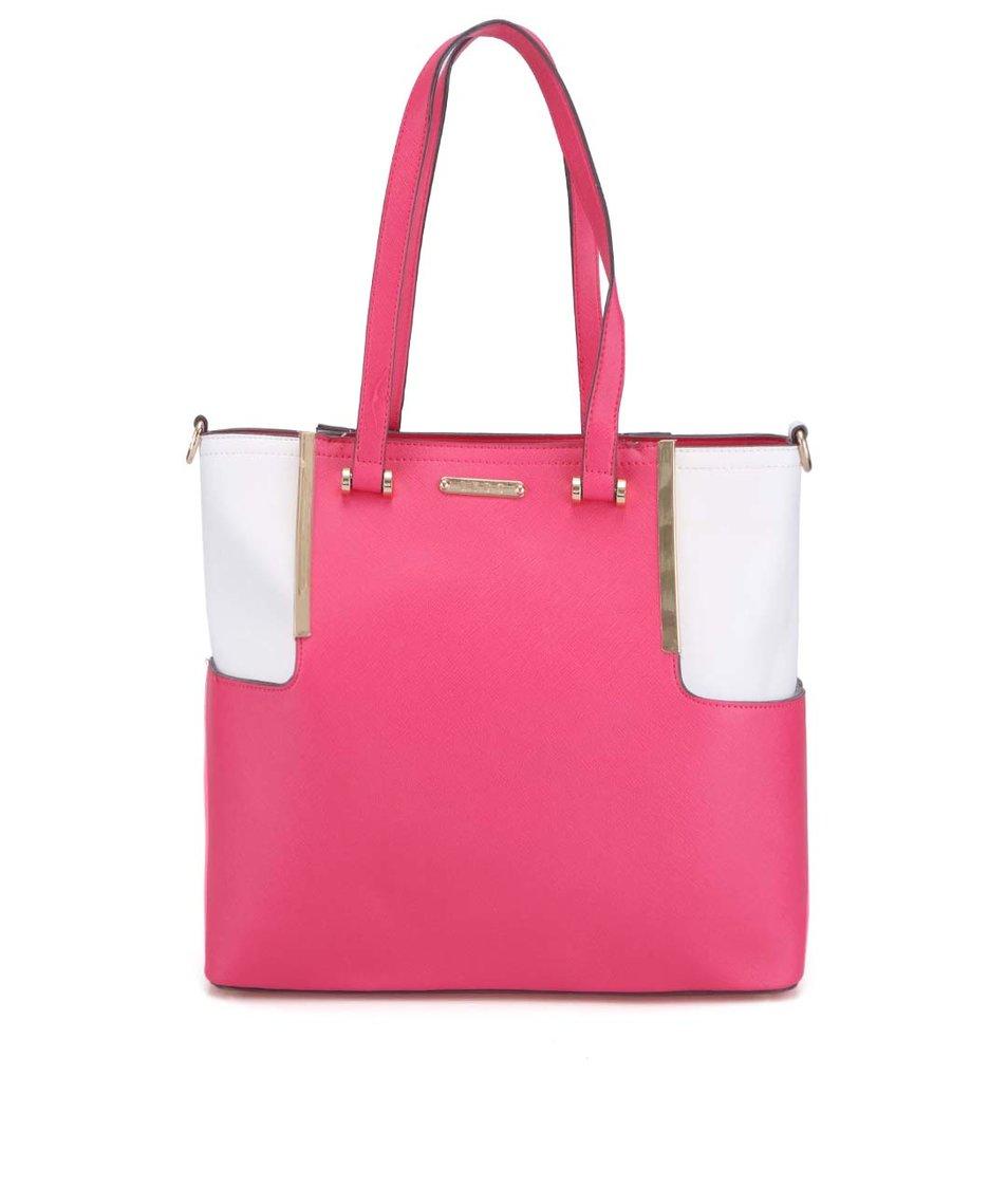 Bílo-růžová kabelka se zlatými detaily LYDC