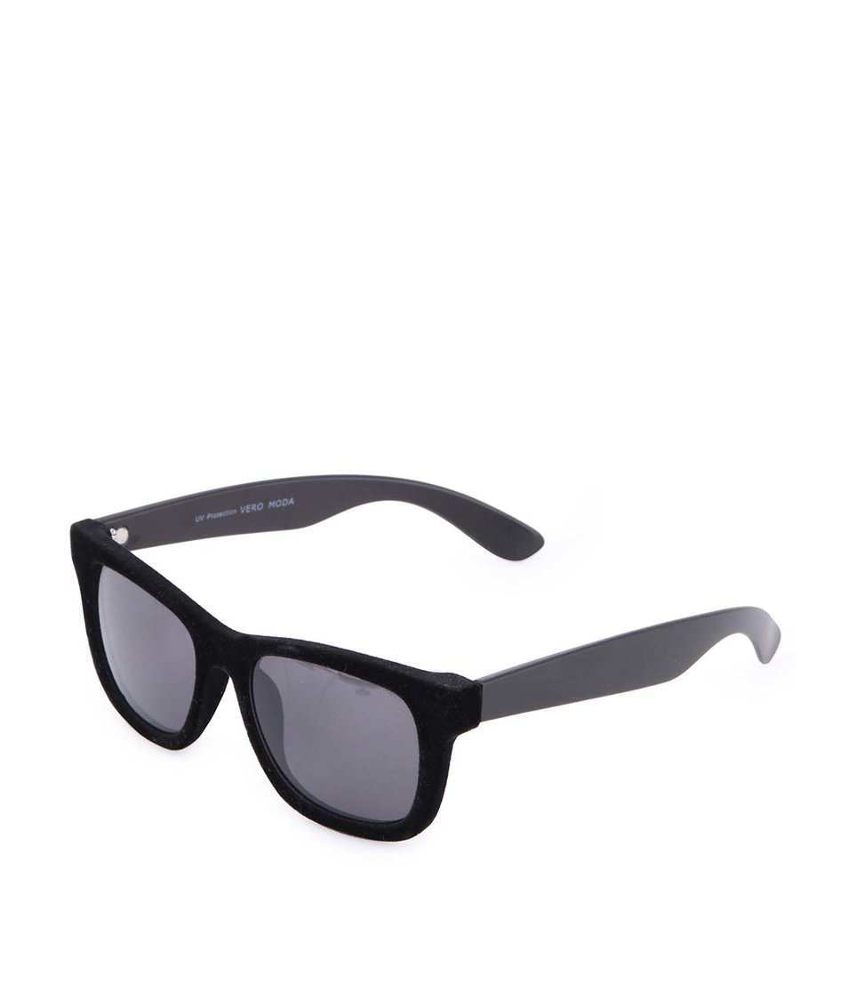 Černé semišové sluneční brýle Vero Moda Stellar