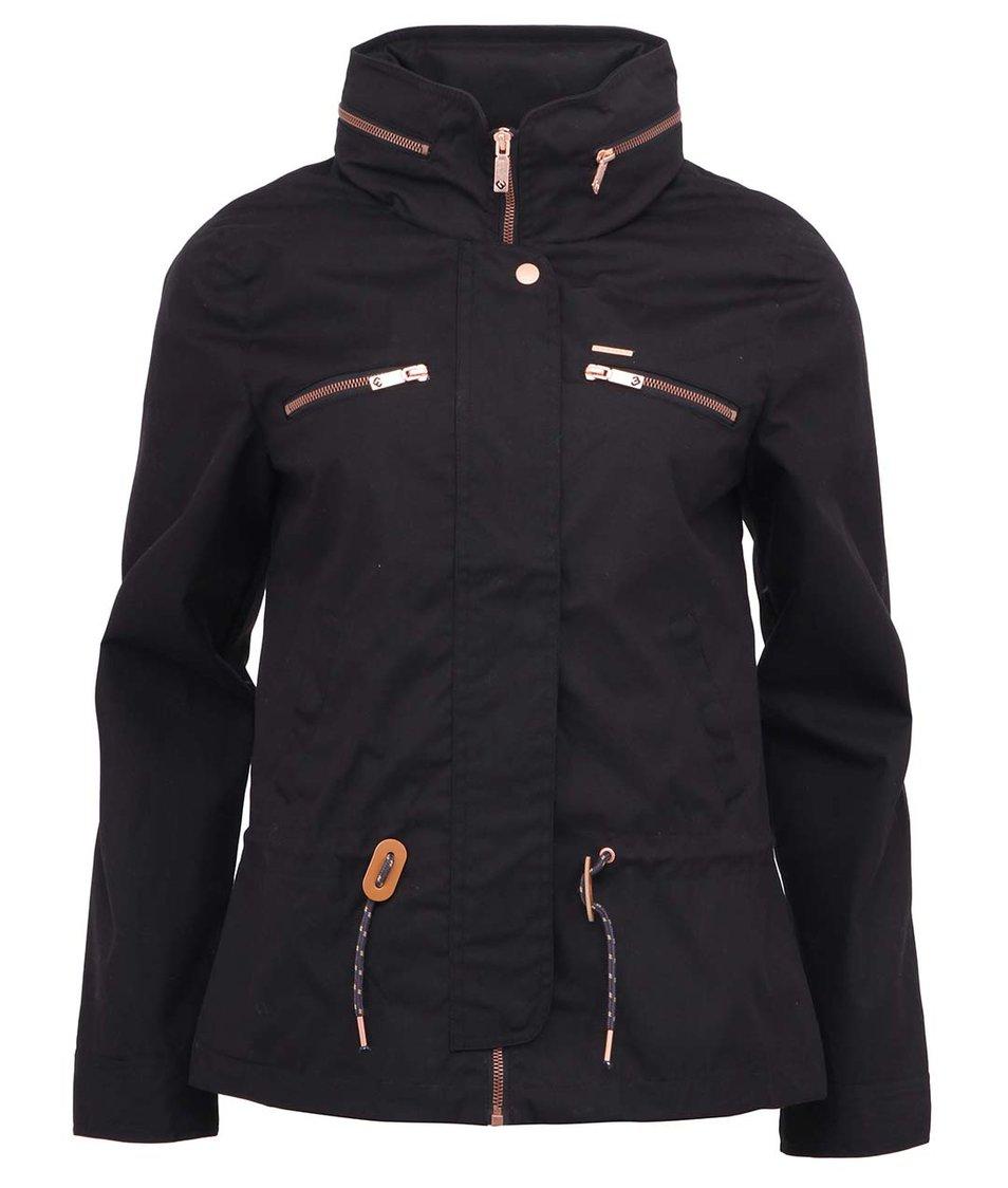 Černá bunda s utahováním v pase Ragwear Macy