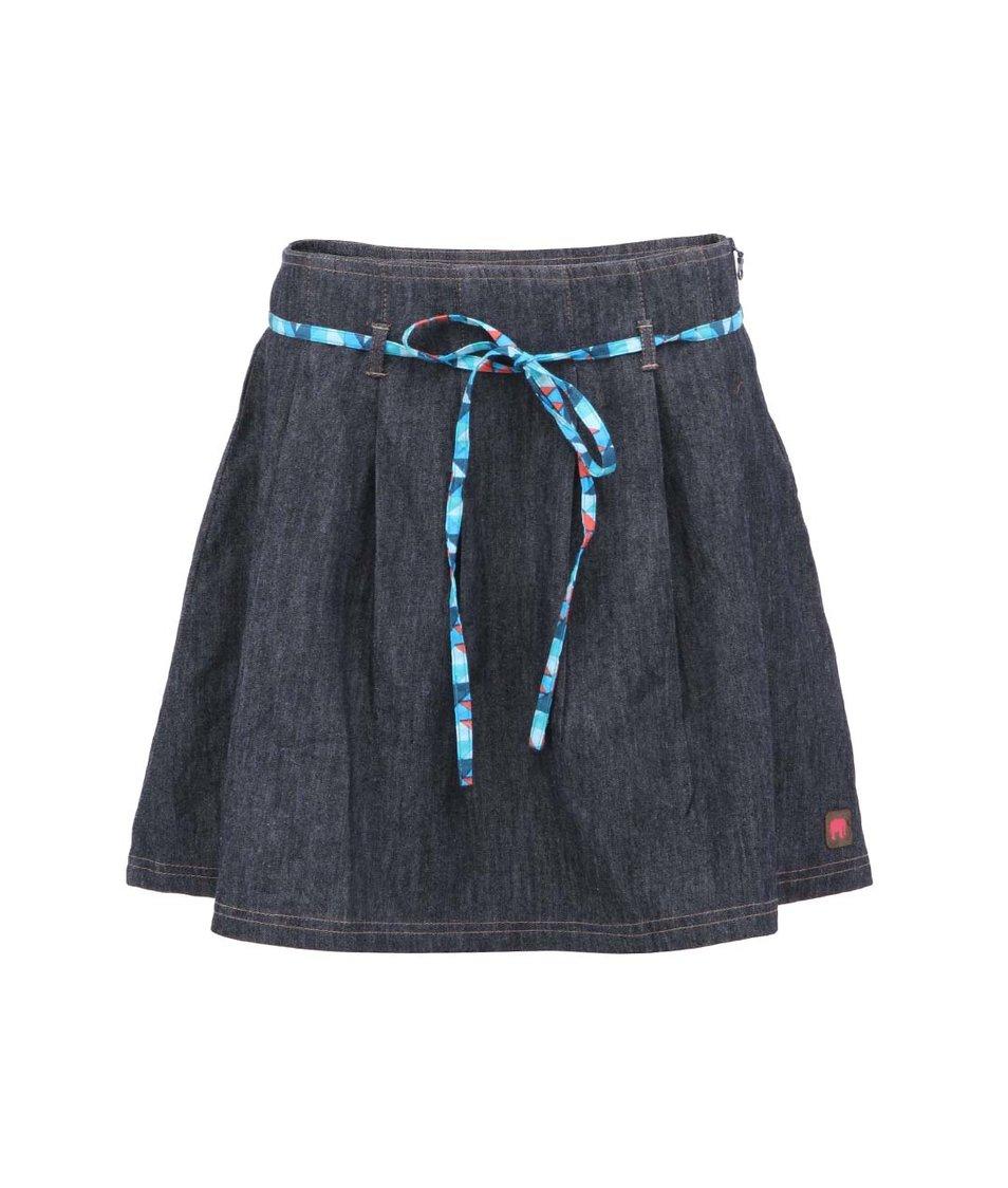 Tmavě modrá denim sukně s modrou šňůrkou Tranquillo Amazona