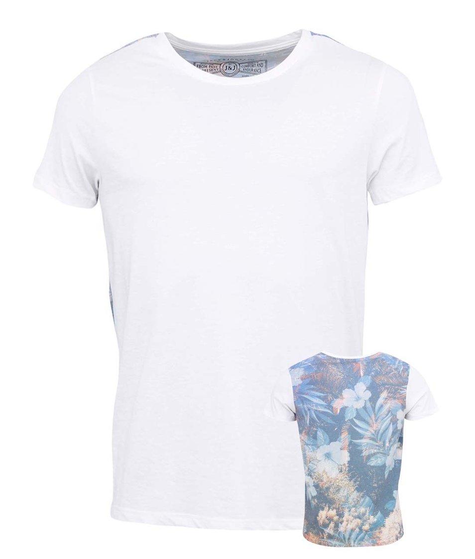Bílé triko s potiskem na zádech Jack & Jones Sun
