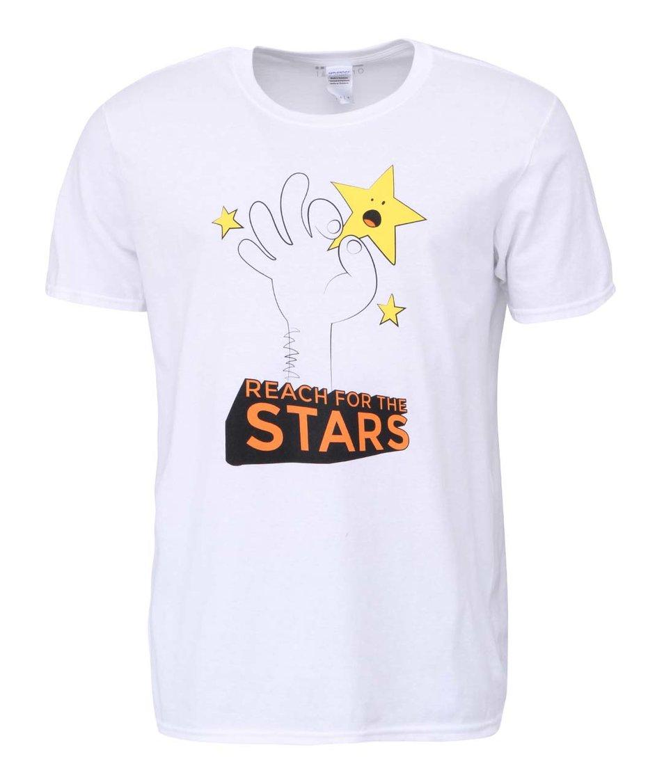 Bílé pánské tričko ZOOT Originál Reach For The Stars