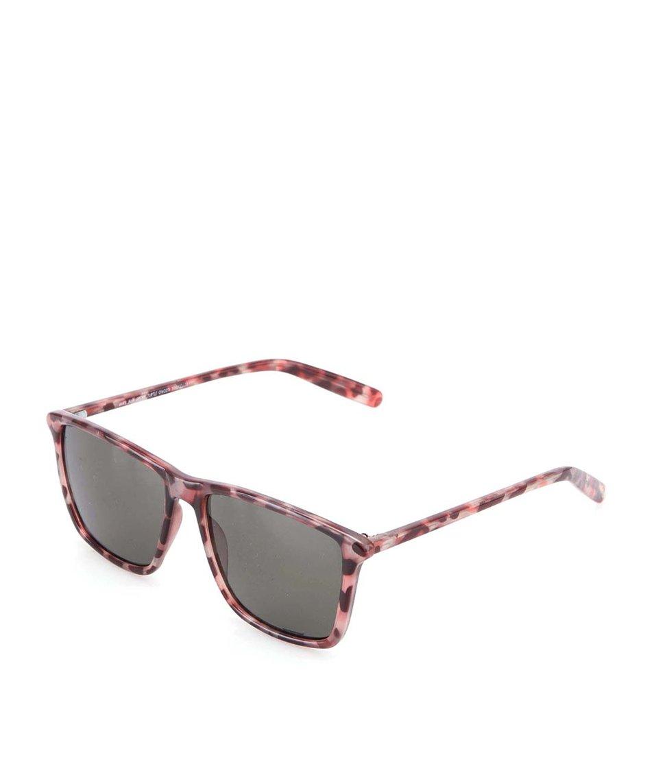 Hnědé unisex sluneční brýle se vzorem Cheap Monday Mars