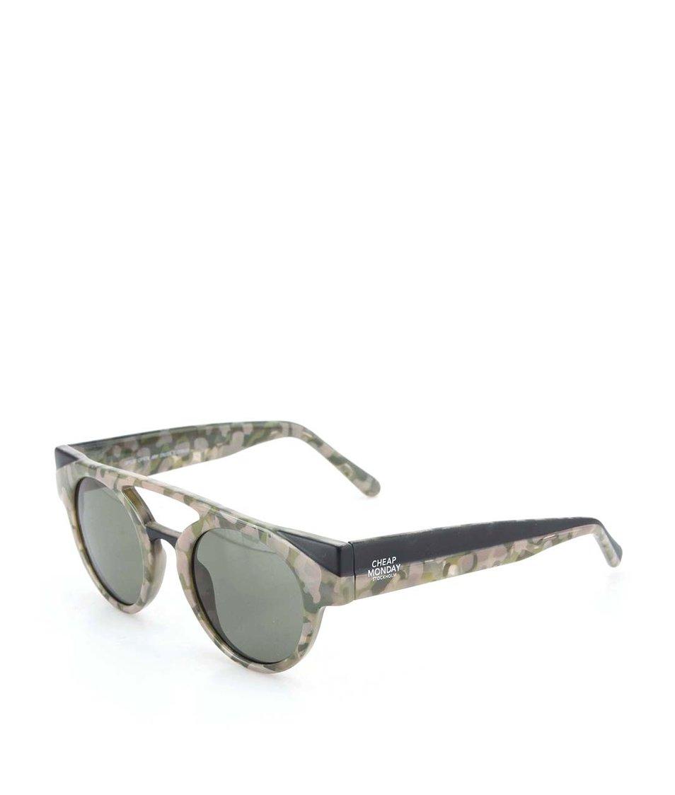 Zeleno-béžové unisex sluneční brýle Cheap Monday Oppose