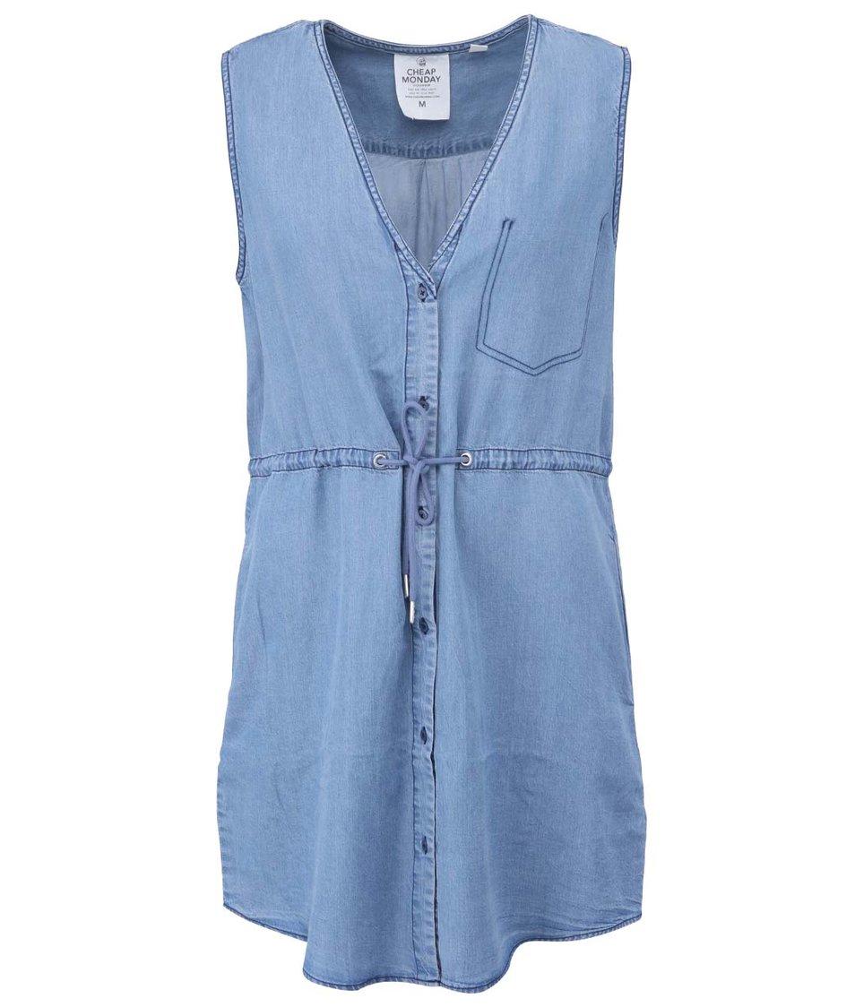 Modré šaty s knoflíky Cheap Monday Heart