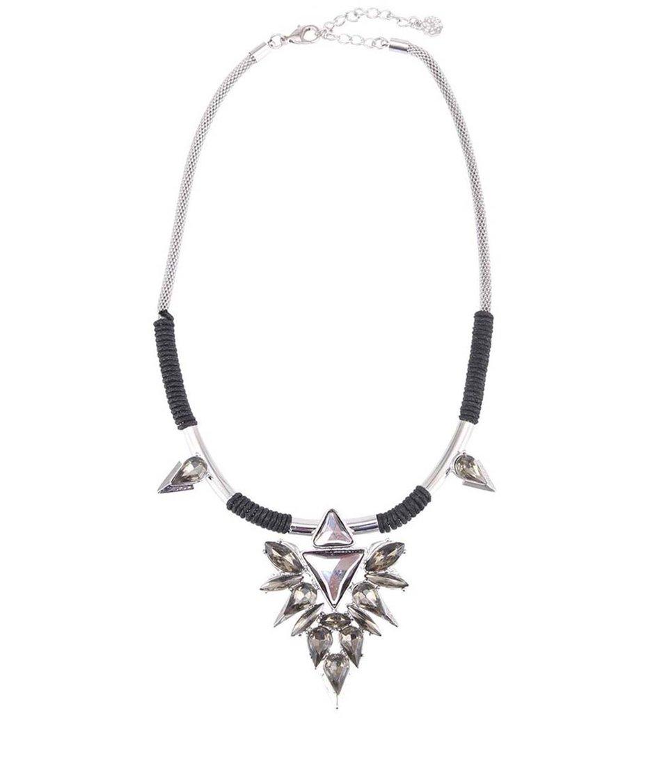 Stříbrný náhrdelník se sklíčkovou aplikací Pieces Jay