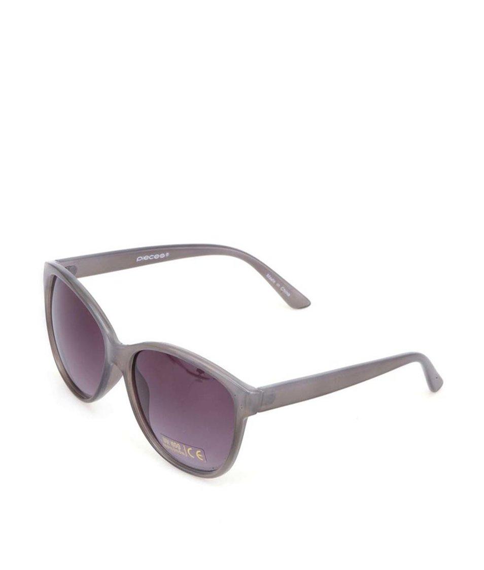 Šedé sluneční brýle Pieces Jane