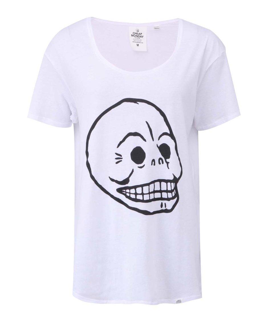 Bílé dámské tričko s potiskem Cheap Monday Easy