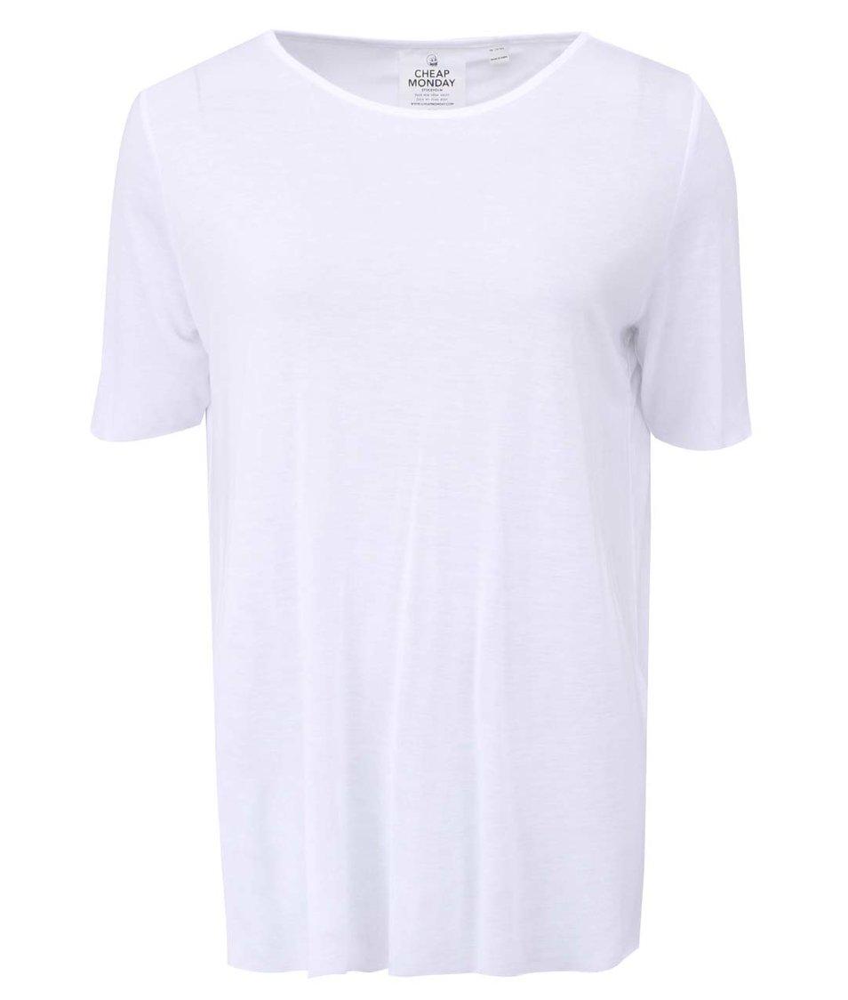 Bílé dámské volné tričko s odhalenými zády Cheap Monday Enfold