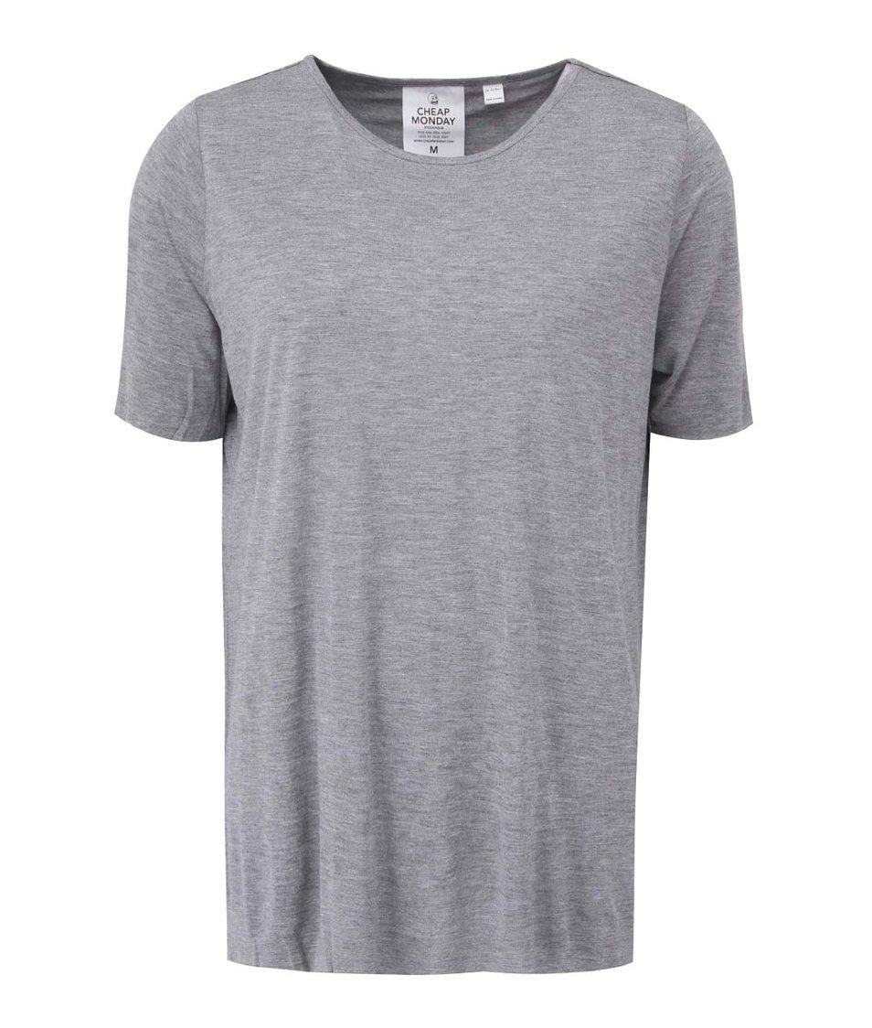 Šedé dámské tričko s odhalenými zády Cheap Monday Enfold