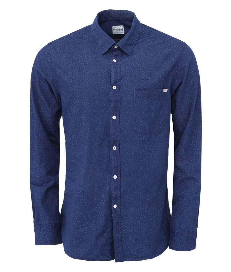Tmavě modrá vzorovaná košile Jack & Jones Firm