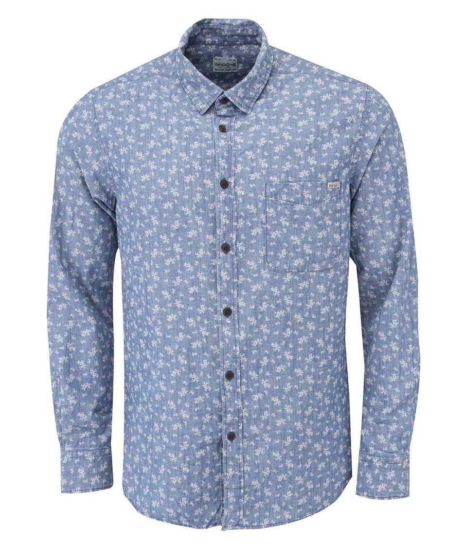 Světle modrá vzorovaná košile Jack & Jones Firm