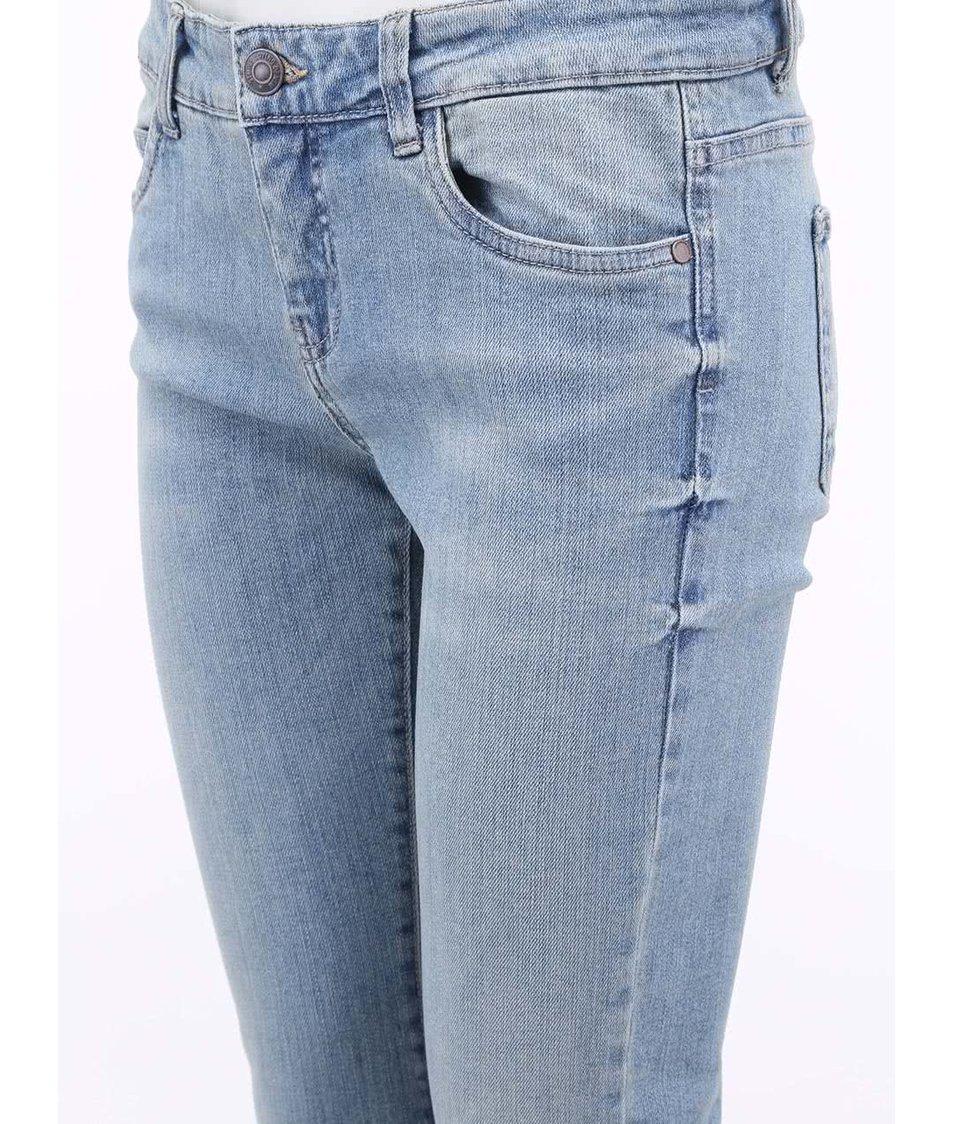 Světle modré slim džíny se sepraným efektem Vero Moda Gambler
