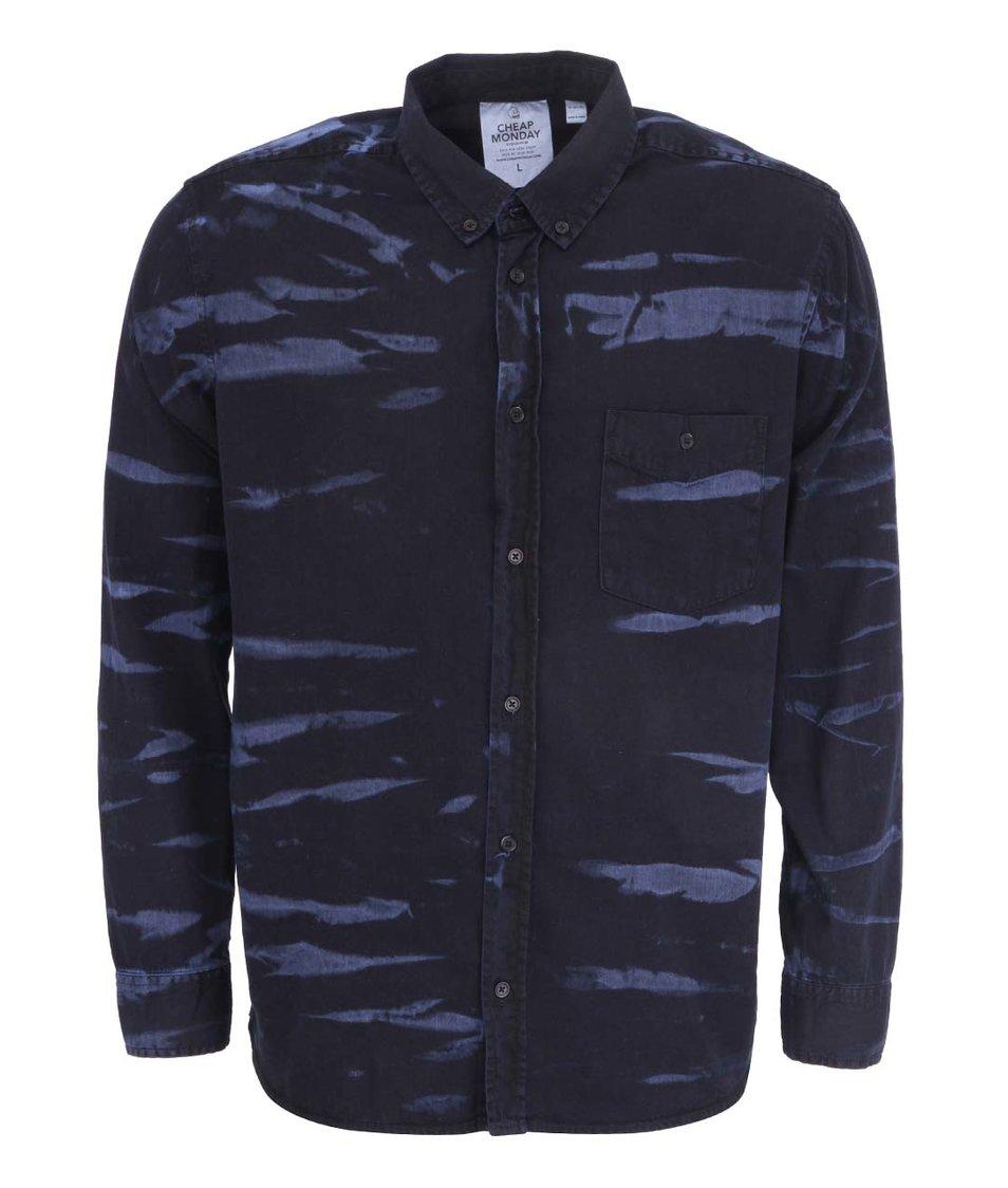 Modro-černá pánská košile Cheap Monday
