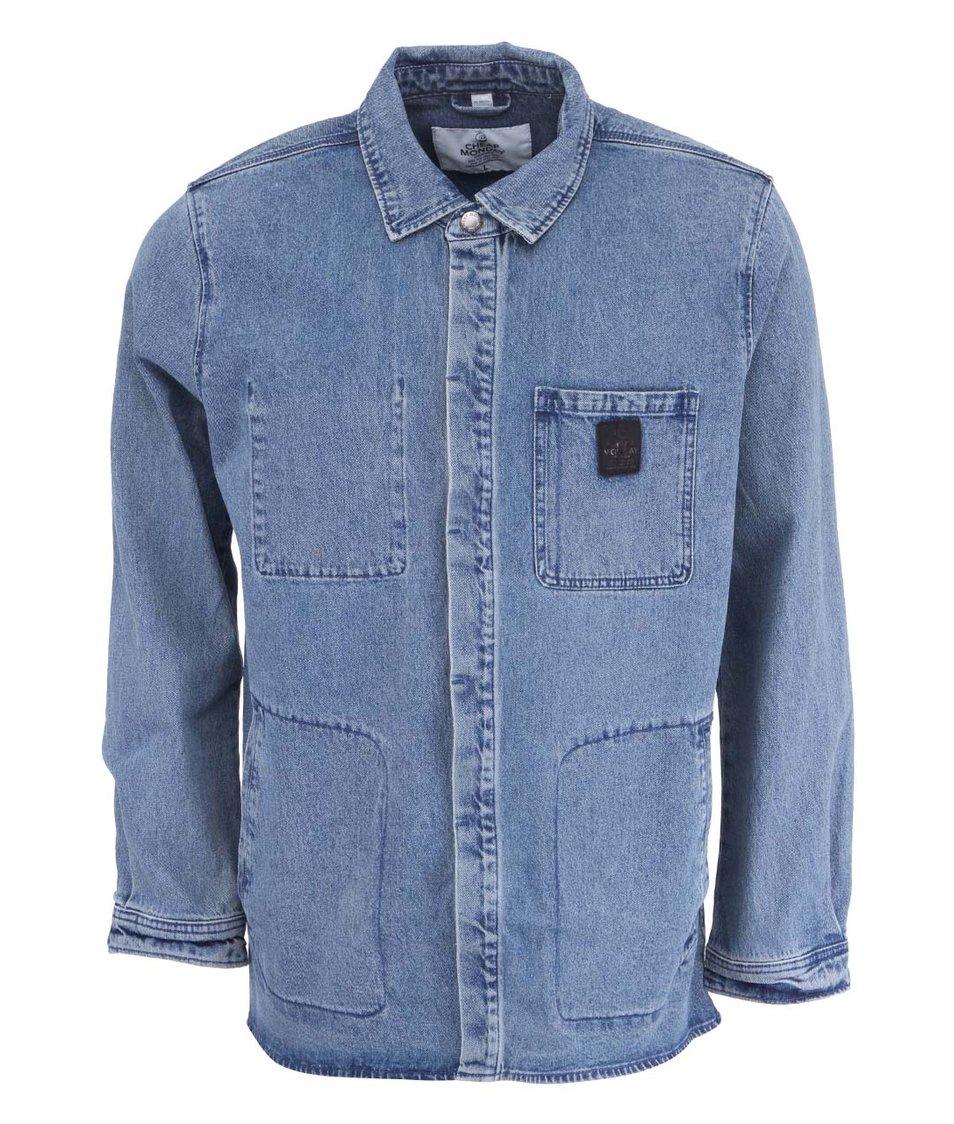 Světle modrá pánská džínová bunda Cheap Monday