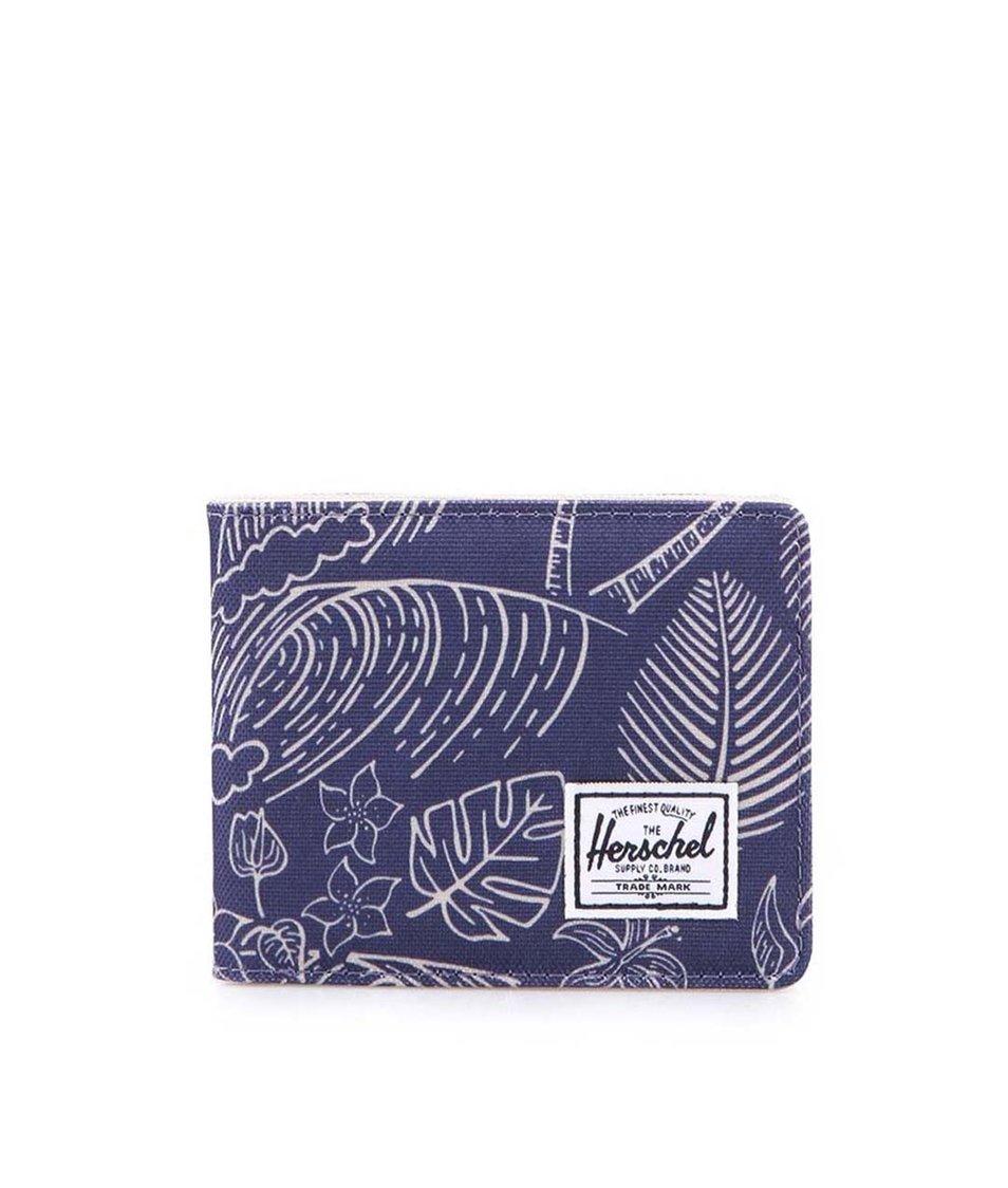 Modrá peněženka s palmovým potiskem Herschel Roy