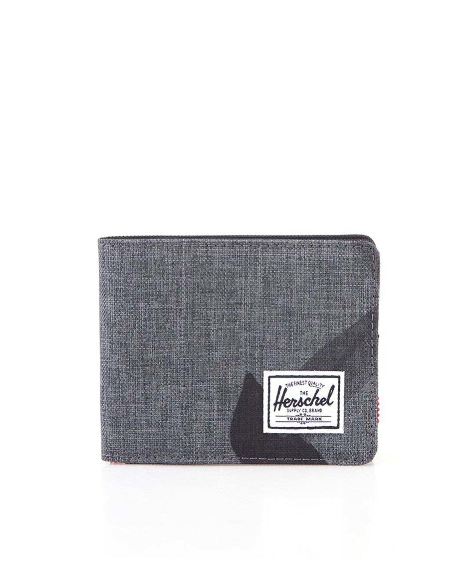 Černo-šedá vzorovaná peněženka Herschel Roy