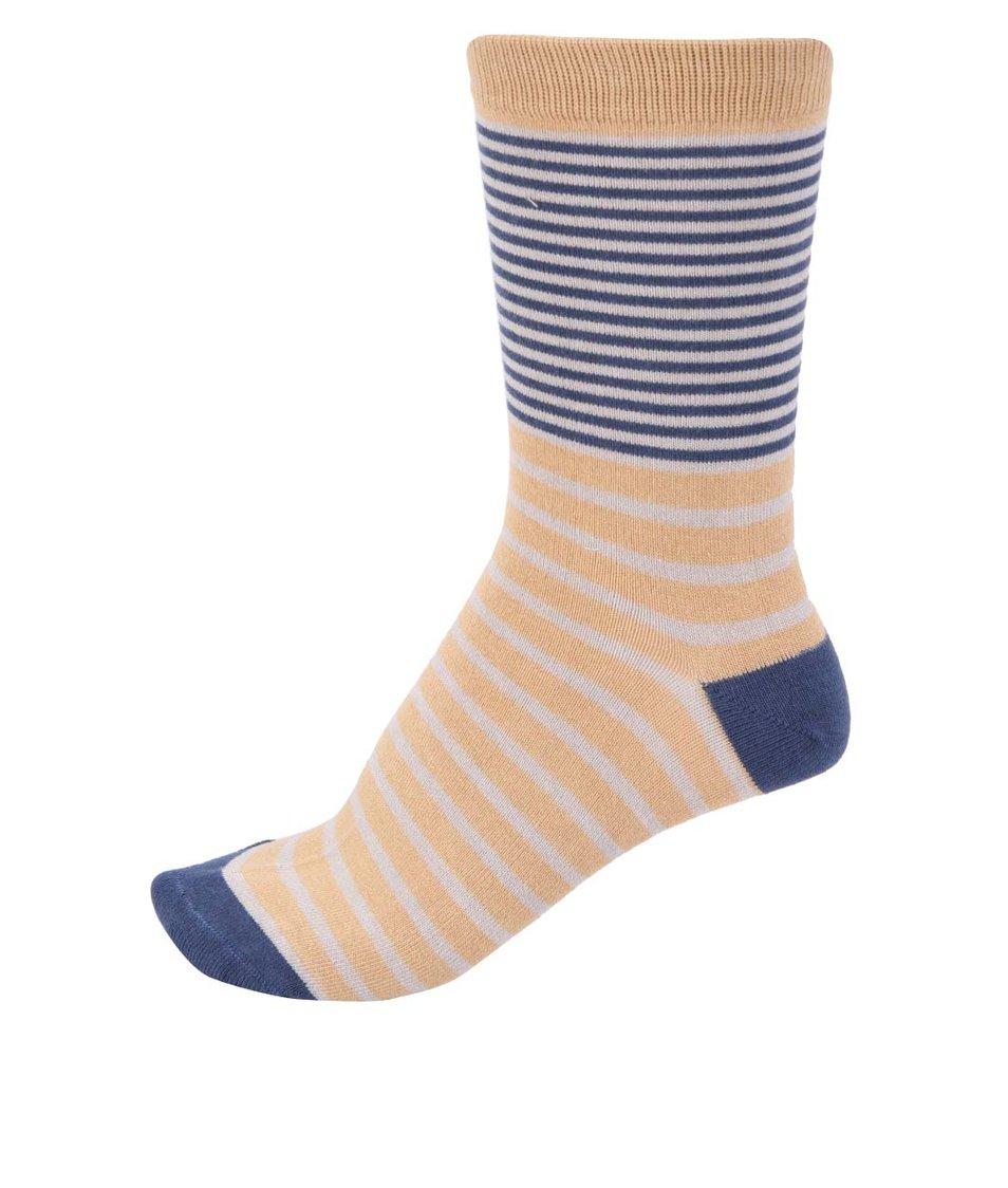 Hořčicové dámské bambusové ponožky Braintree Coira
