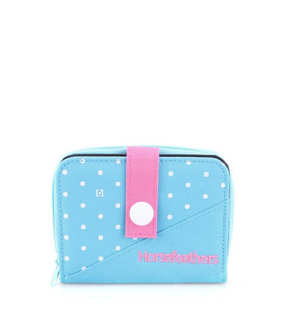 Růžovo-modrá peněženka s puntíky Horsefeathers Dot