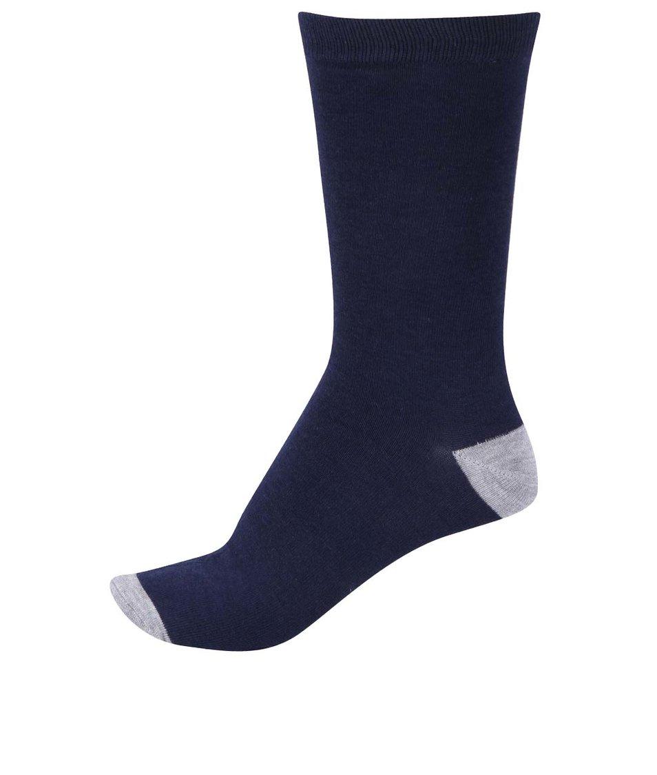 Tmavě modré pánské bambusové ponožky Braintree Colour Bamboo