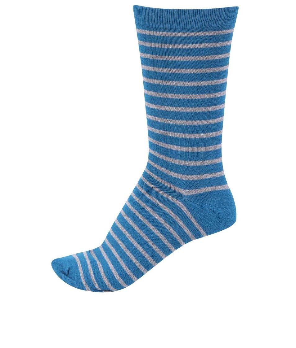 Modré pánské bambusové ponožky s pruhy Braintree Upwood