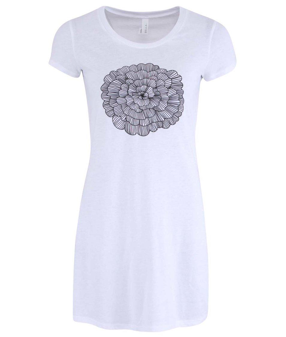 Bílé šaty s abstraktním květem na prsou ZOOT Originál
