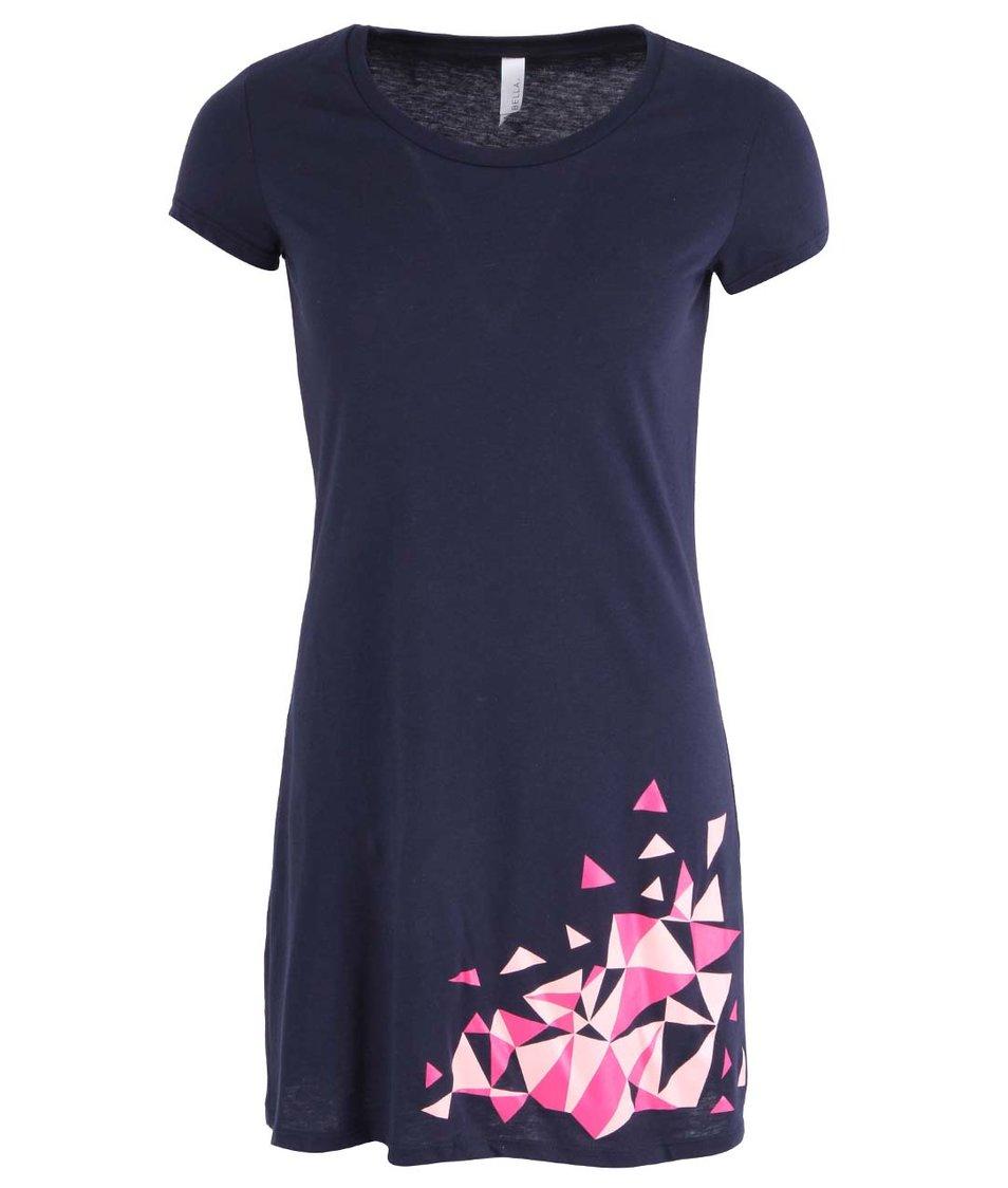 Tmavě modré šaty s barevnými polygony ZOOT Originál