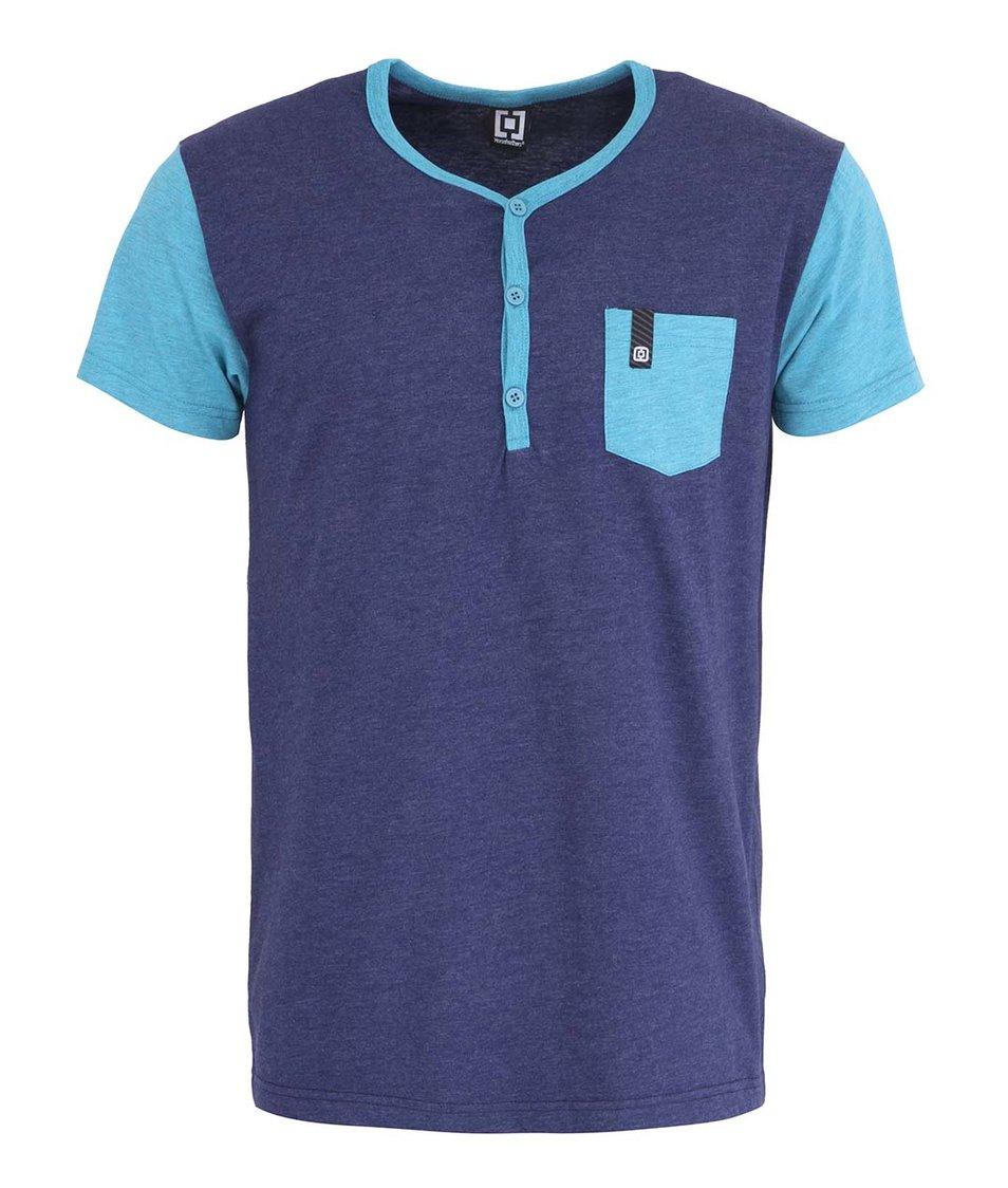 Modré pánské triko s kapsou Horsefeathers March