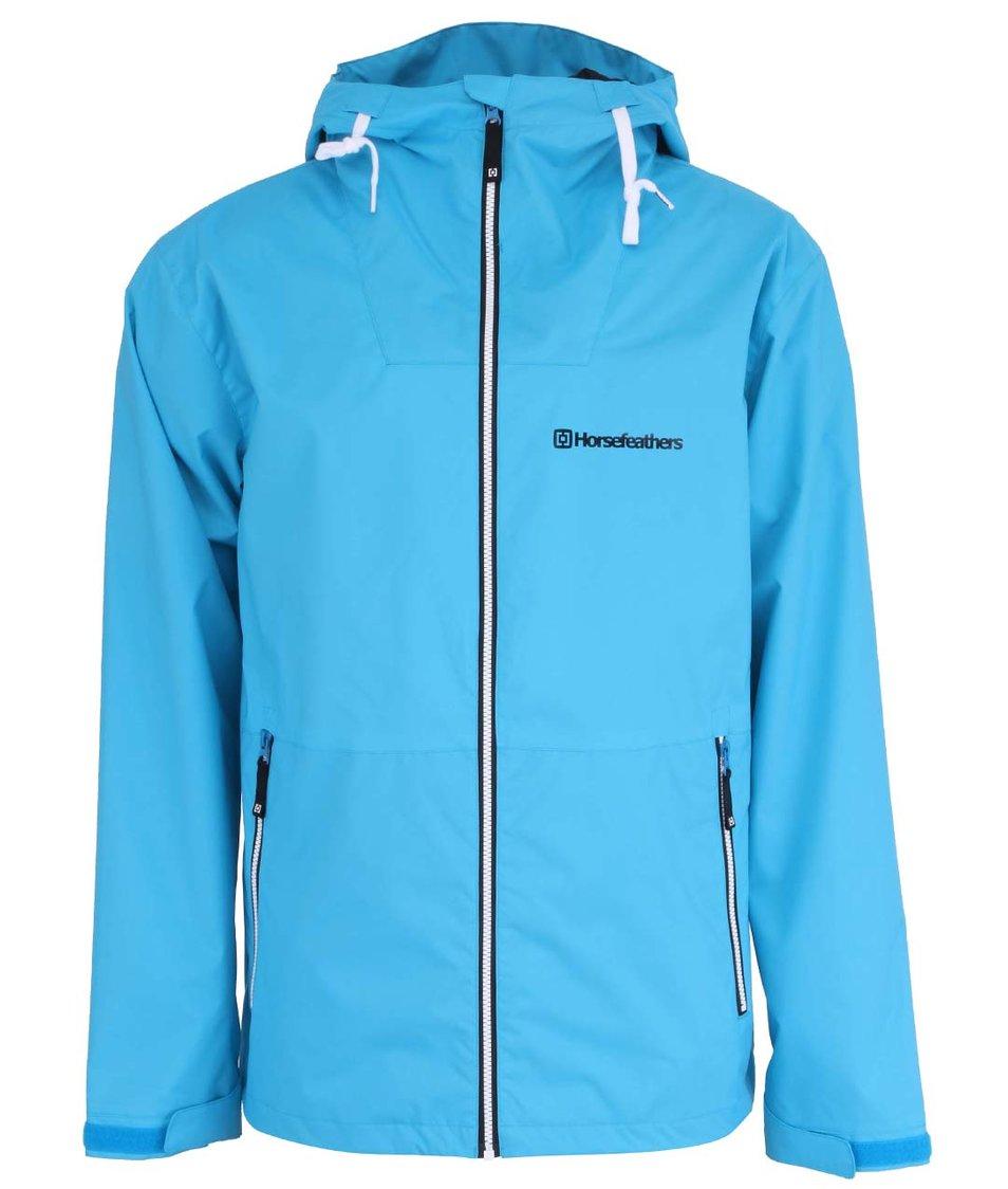 Světle modrá pánská nepromokavá bunda s kapucí Horsefeathers Crystal