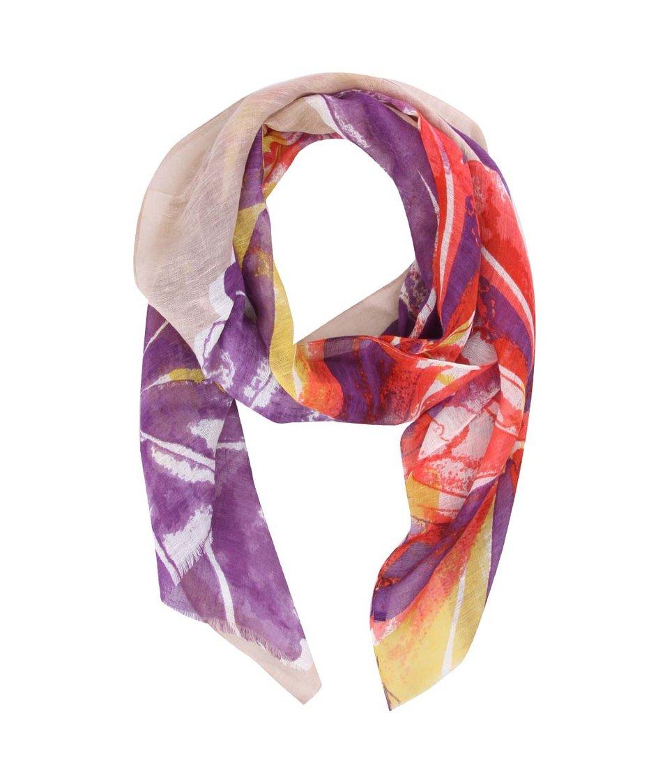 Barevný lněný šátek Fraas