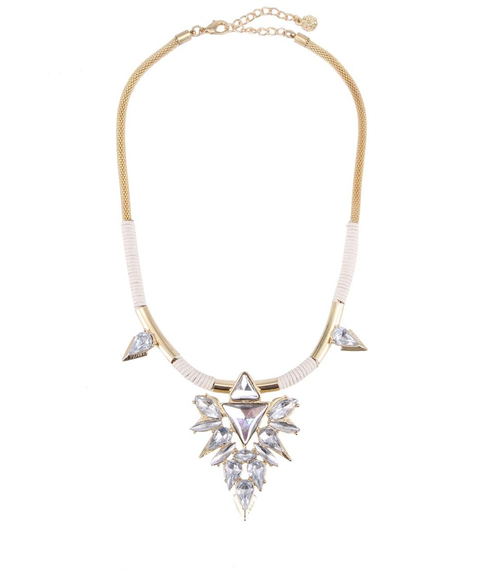 Zlatý náhrdelník s aplikací Pieces Jay