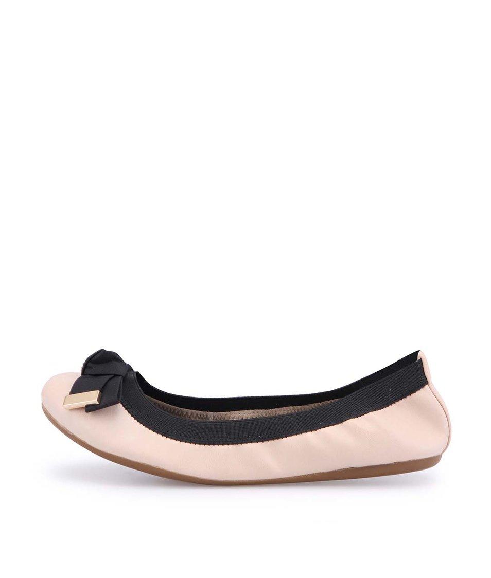 Černo-tělové balerínky s mašlí ALDO Torazza