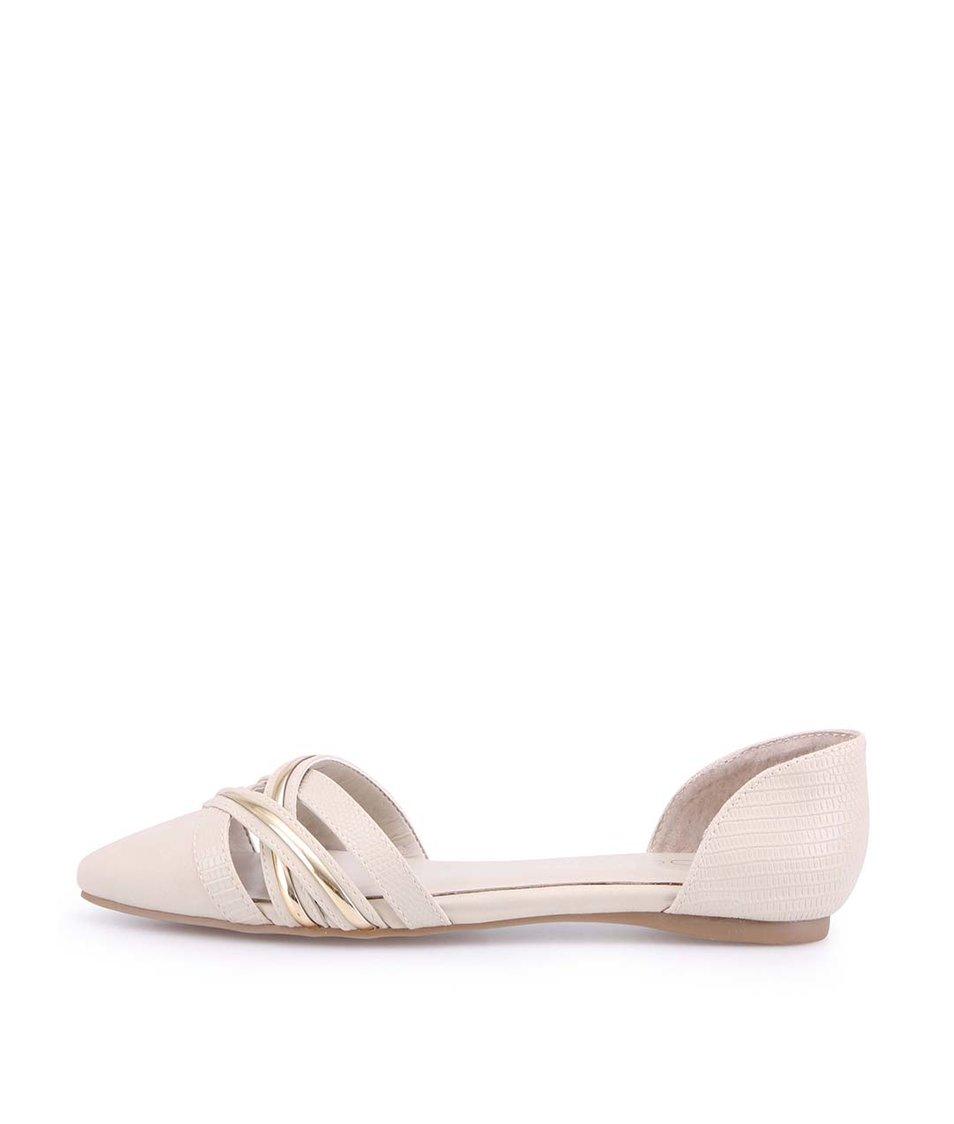 Béžové sandálky s plnou špičkou ALDO Courtade