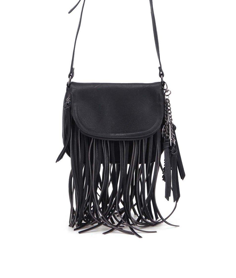 Černá kabelka s třásněmi ALDO Stremi
