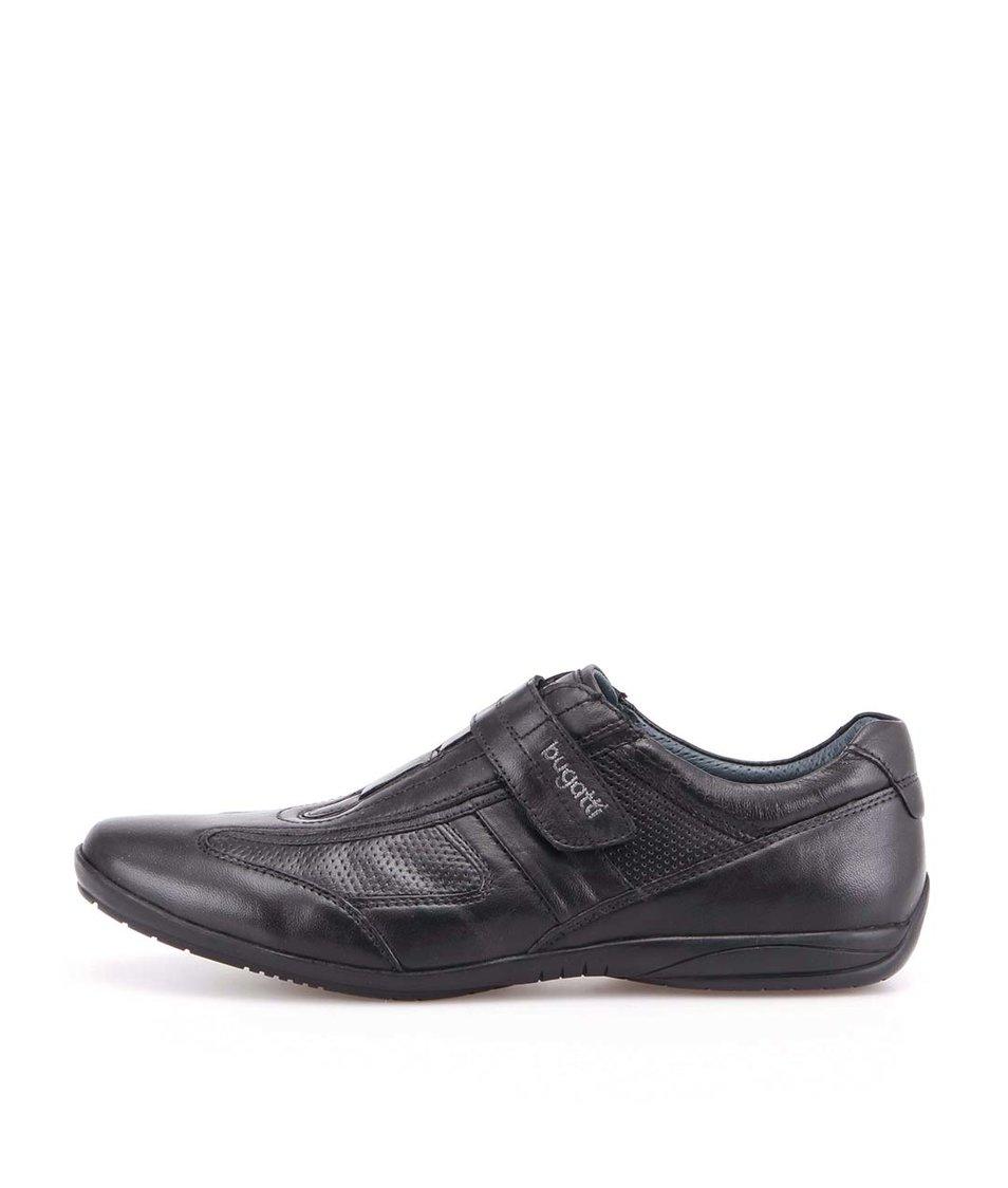 c1a4b6a2bd6ba Černé pánské kožené boty na suchý zip bugatti - SLEVA! | stylhouse.cz