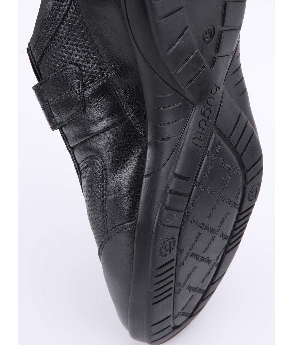 5ff8edad720b0 Černé pánské kožené boty na suchý zip bugatti - Akční cena ...