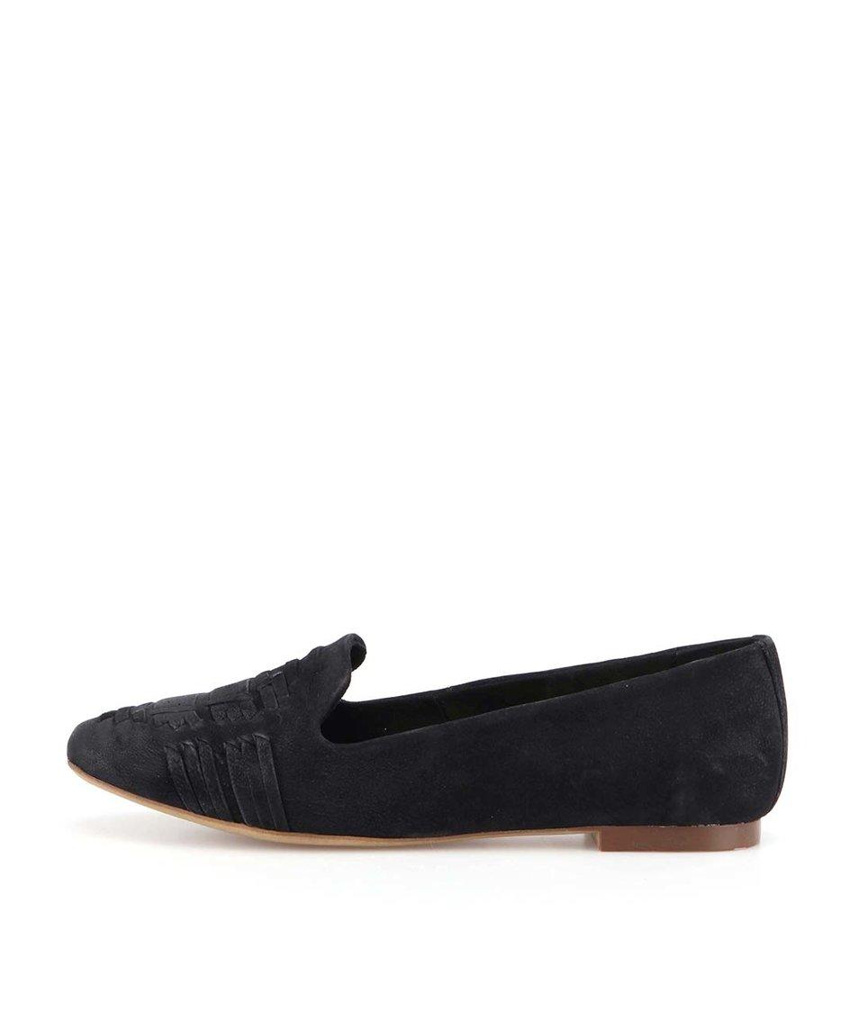 Černé kožené balerínky ALDO Ybeiven