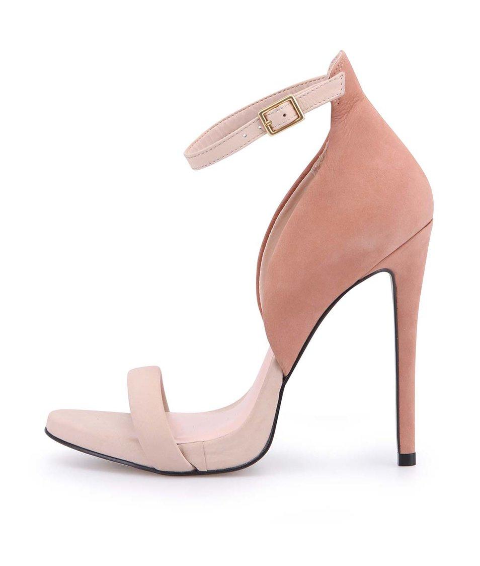 Tělové sandálky na podpatku ALDO Creisa