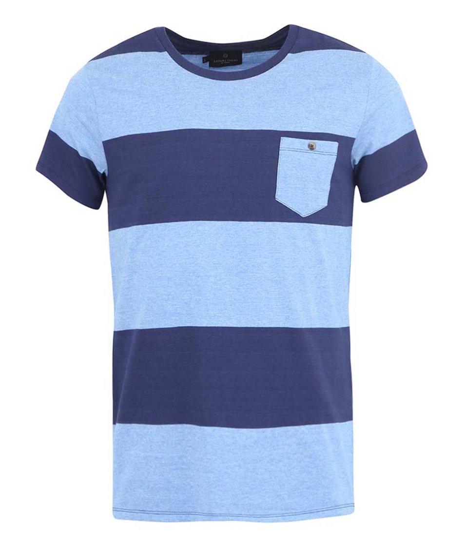 Modré pruhované triko Casual Friday by Blend